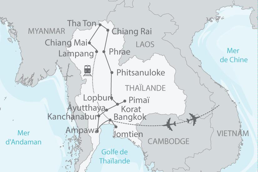 Thaïlande - Circuit Rivière Kwaï, Temples Khmers et Femmes Girafes