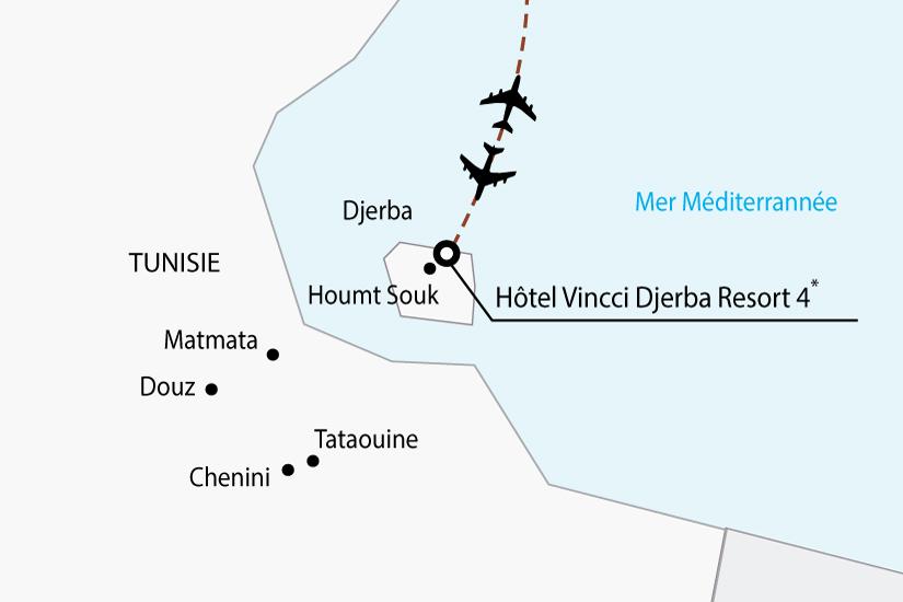 carte tunisie hotel djerba sh 2018_236 178736