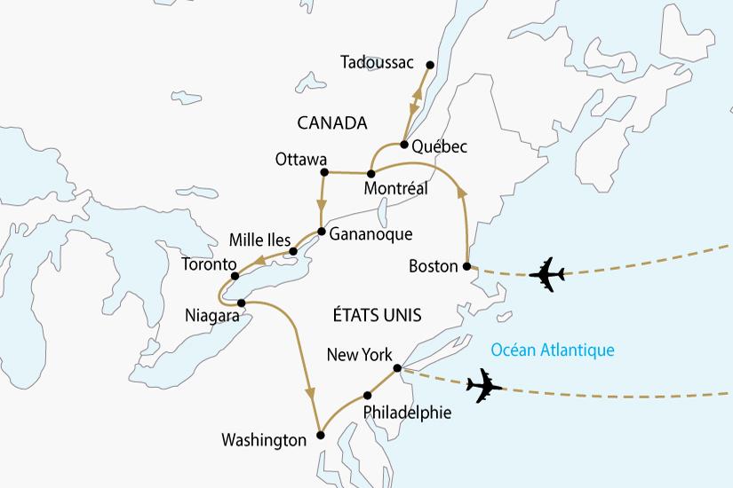 Carte Canada Boston.Canada Et Usa Circuit Premium Circuit Canada Avec Voyages Auchan