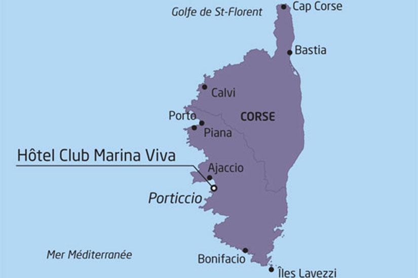 Carte Corse Ajaccio Porticcio.Sejour Corse France Corse Sejour Au Club Marina Viva 3