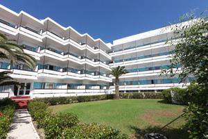 (]  grece rhodes hotel belair facade