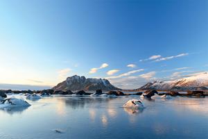 1 paysage d hiver glace dans l archipel de vesteralen au nord de la norvege 47 it 981594958