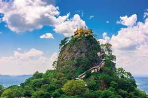 birmanie taung kalat sommet mont popa myanmar volcan eteint 01 fo_134074466