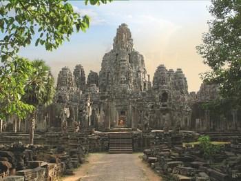 vignette Cambodge angkor temple vue de face