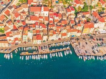 croatie sibenik vue aerienne