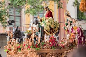 espagne malaga semaine sainte procession jesus christ pollinica 97 fo_135414613