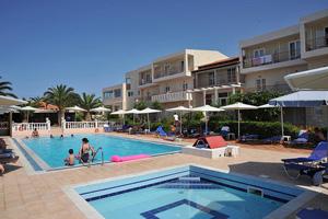 grece crete hotel cretan garden piscine