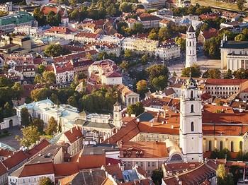 lituanie vilnius vue aerinne
