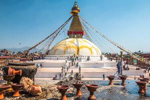 nepal katmandou stupa  it