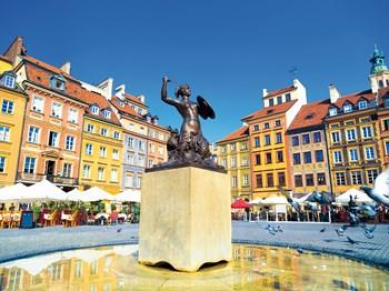pologne varsovie statue