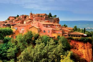 roussillon village coucher de soleil vue provence france 24 as_45106719