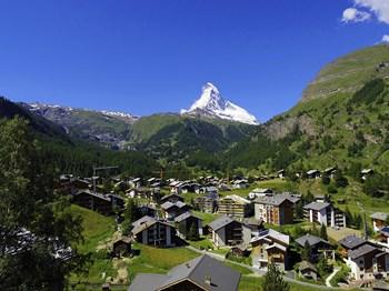 suisse zermatt vue aerienne