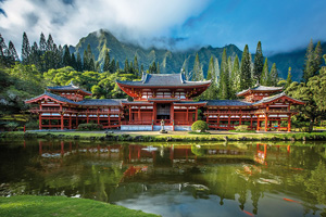 etats unis hawaii byodo in temple  fo