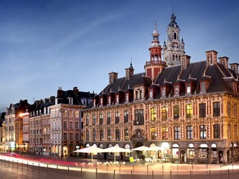 france lille place nuit