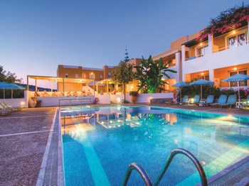 séjour grece crete hotel xidas garden vue ensemble