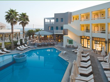 séjour grece crete rethymnon hotel sentido pearl beach piscine