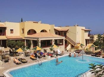 grece crete stalis hotel cactus beach piscine