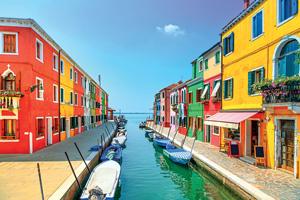 italie venise canal ile burano  it
