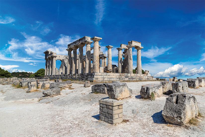 (image) image Aphaia temple sur Egine ile Grece 06 as_101720759