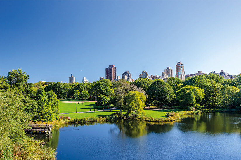 (image) image vue de parc central a Manhattan avec parc a la journee ensoleillee New York ville Etats Units 21 as_93534410