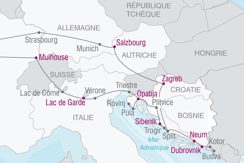 (map) carte Croatie Les Joyaux 622152