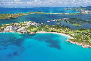 (vignette) Vignette Antilles Saint Martin Coupe Mullet Cupecoy Bay Vue aerienne  it