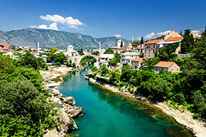 bosnie mostar pont rivier  fo