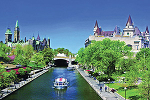 canada ottawa rideau canal parlement canada chateau laurier  fo