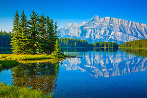 canada parc national banff lac two jack  it