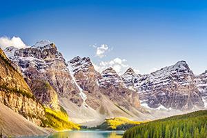 canada rocheuses lac moraine  it