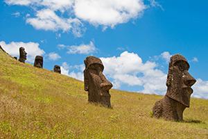 chili ile paques moai rano raraku volcan  fo