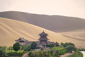 chine dunhuang lac lune route de la soie  fo