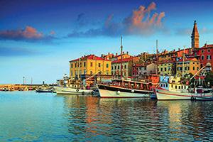 croatie istrie rovinj harbor  it