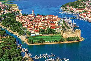 croatie trogir vue aerienne  fo