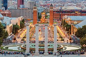 espagne barcelone fontaine magique  fo