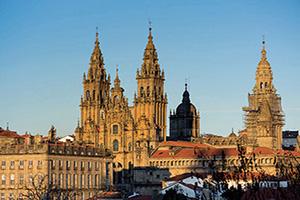 (vignette) Vignette Espagne Compostelle cathedrale de Santiago  fo
