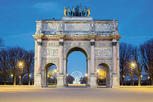 france paris arc de triomphe  fo
