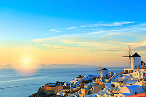 grece santorin soir  it