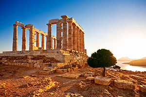 circuit grece sounion temple poseidon  it