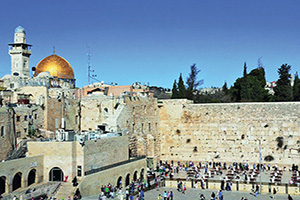 israel jerusalem le mur occidental troisieme temple  fo