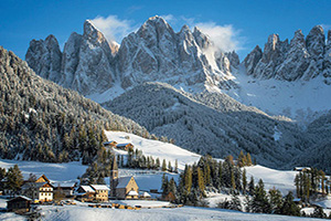 (vignette) Vignette Italie Dolomites hiver  fo