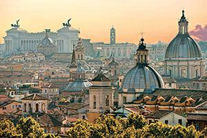 (vignette) Vignette Italie Rome vue du Rme du Castel Sant Angelo  it