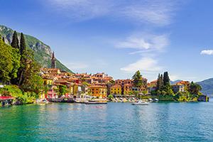 italie varenna lac como panorama  fo