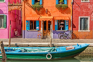 italie venise burano canal  it