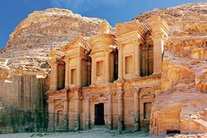 jordanie petra le monastere de merveille du monde  fo