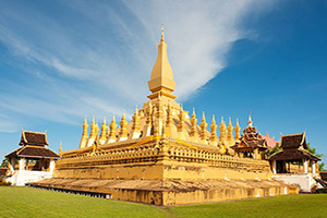 laos vientiane monument pha that luang  fo