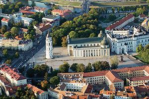 lituanie vilnius vue aerienne  fo