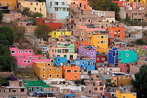 mexique mexico masions colorees  fo