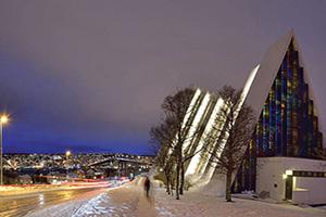 norvege tromso cathedrale arctique  fo