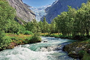 norvege vue glacier briksdalsbreen  it